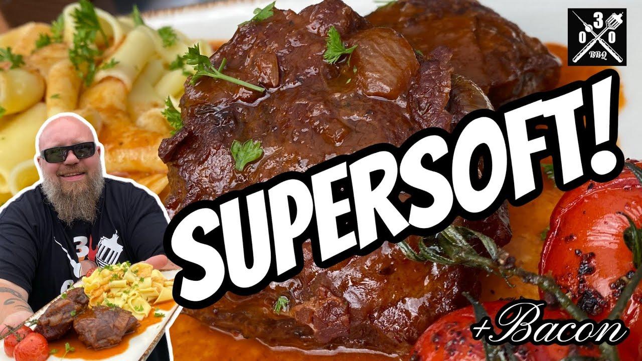 Kalbsbäckchen mit Bacon Portwein Sauce ! Super Soft aus dem Dutchoven - 030 BBQ