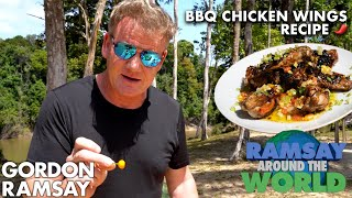 Are Gordon Ramsay's Chicken Wings Spicy Enough for The Hot Ones   Ramsay Around the World