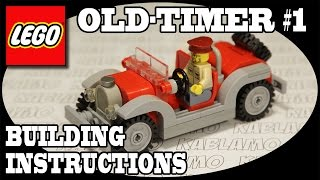 lego moc old timer 1 convertible sports car building instructions