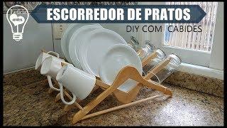 ESCORREDOR DE PRATOS COM CABIDES  #CARADELOJA LETICIA ARTES