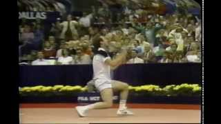 Dallas 1983 Final - Lendl vs McEnroe - highlights