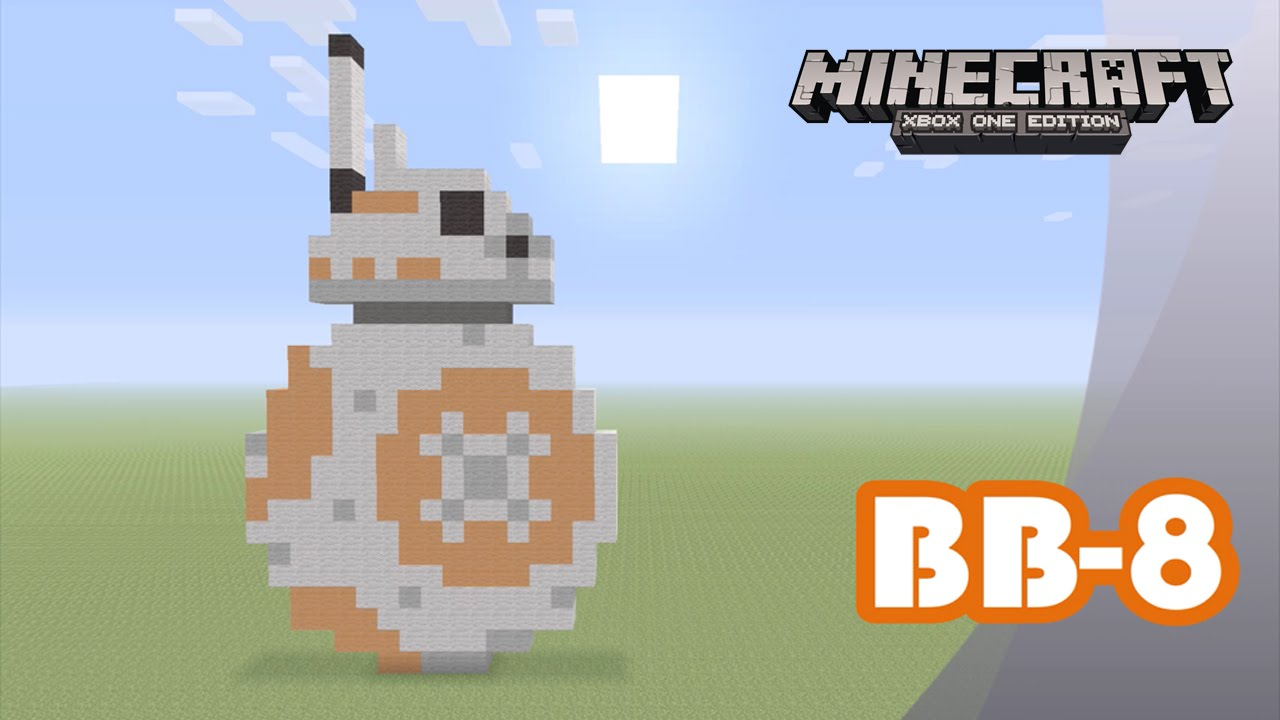 Minecraft Pixel Art Tutorial And Showcase Bb 8 Star Wars The Force Awakens