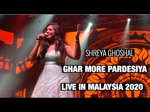 Shreya Ghoshal Sings Ghar More Pardesiya Live In Malaysia 23.02.2020