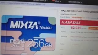 Las tarjetas SD Mixza 256 GB de Gearbest son una estafa!!