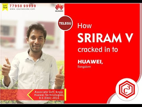 Sriram V, placed in Huawei, Bangalore || CourseCube(JLC) || B.Tech(EEE)-2016 (Telegu)
