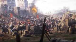 """Панорама """"Взятие турками Константинополя в 1453 году"""" в Историческом музее Стамбула"""