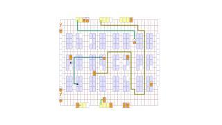 Фрагмент имитации работы роботизированного склада с роботами РОНАВИ в технологии G2P