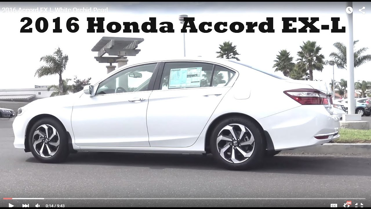 2016 accord ex l white orchid pearl youtube. Black Bedroom Furniture Sets. Home Design Ideas
