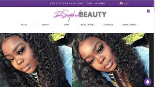 WIX WEBSITE DESIGN FOR BEAUTY INDUSTRY CLIENT DASNATCHED BEAUTY