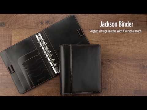 Jackson Leather Open Binder