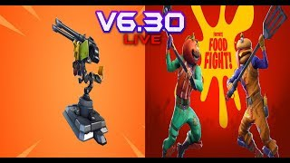 FORTNITE - NEW MOUNTED TURRET FOOD FIGHT LTM OUT NOW FULL REVIEW - UPDATE V6.30