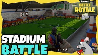 FORTNITE FOOTBALL STADIUM SECRET LOCATION! NEW UPDATE GAMEPLAY