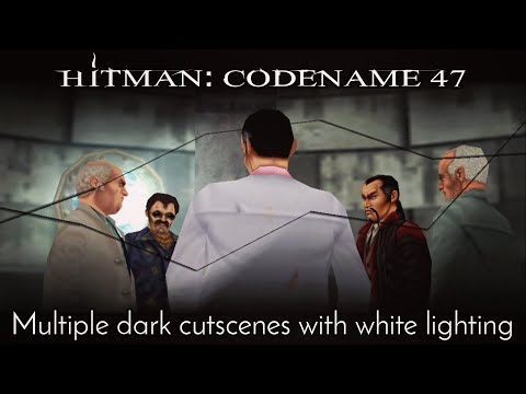 Hitman: Codename 47 - Multiple dark cutscenes with white lighting |
