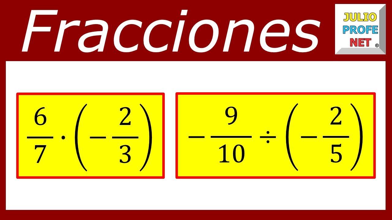 OPERACIONES CON FRACCIONES POSITIVAS Y NEGATIVAS - Ejercicio 2 - YouTube