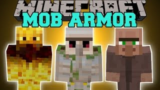 Minecraft: MOB ARMOR (TURN INTO MOBS AND GAIN THEIR ABILITIES!) Mod Showcase