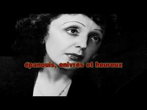 Edith Piaf La foule karaoké