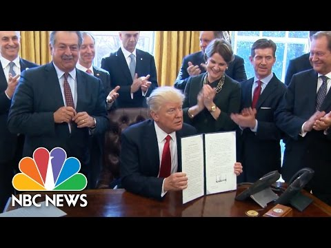 President Trump Signs Executive Order To Create Regulatory Reform Task Forces   NBC News