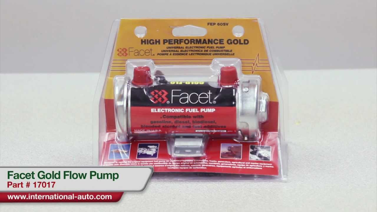Facet Gold Flow Pump - International Auto Parts - YouTube
