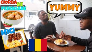 Trying MICI AND CIORBA DE PERISOARE for the first time - Romanian food | QUEST FOR THE BEST