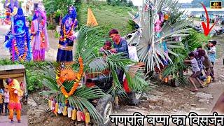 श्री गणेश जी विसर्जन चल समारोह // मेगनगर !! new video !! vk bhuriya new Timli song 2021