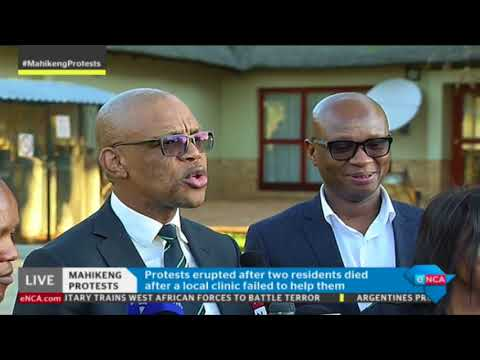ANC spokesperson Pule Mabe briefs media on Mahikeng unrest
