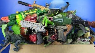 Box of Toys Gun Toys & Dinosaurs Toys !!! Toys for Kids