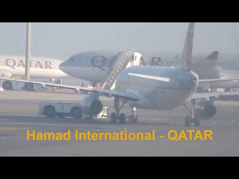 DOHA Qatar : Hamad International Airport Scenes Part 1