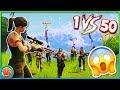 1 VS 50 CHALLENGE GEWONNEN?! *HEEL SPANNEND!* - Fortnite: Battle Royale
