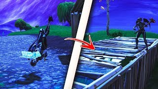 How to build INVERTED structures while UPSIDE DOWN in Fortnite! Insane glitch! (Fortnite Glitches)