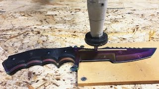 Custom Counter Strike Knife On A Waterjet