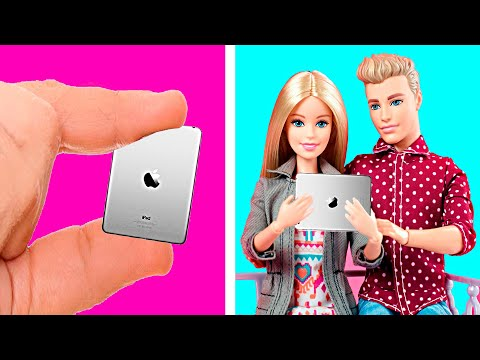 28 DIY BARBIE AWESOME MINIATURE CRAFTS AND HACKS | Making Easy Hacks For Barbie Doll
