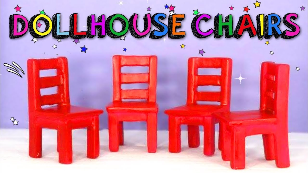 How to make miniature chairs for dollhouse - handmade toys DIY - Mr  DIY