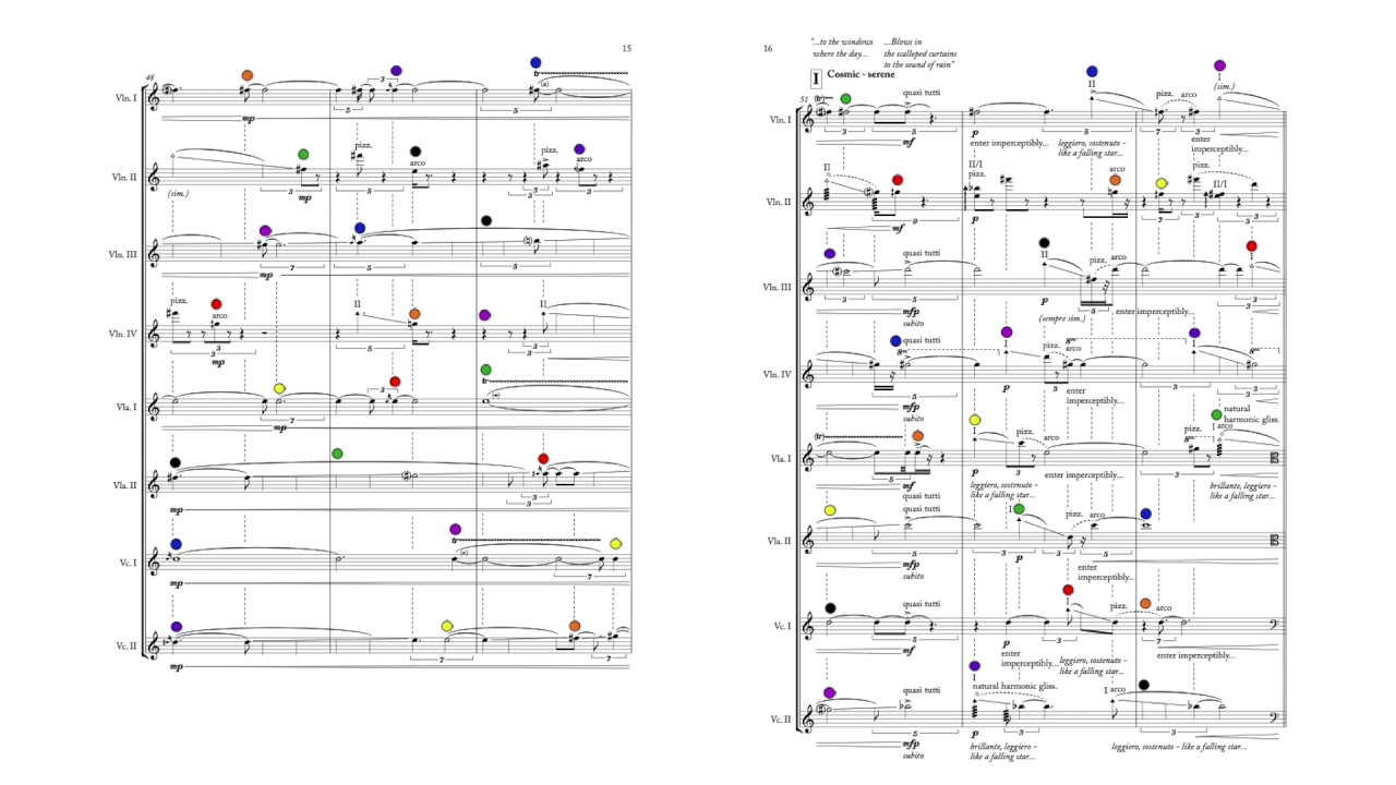 "Nick Virzi: ""Aux Imagistes II"" for String Octet (2016) 