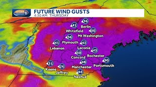 Wind gusts topping 40 mph likely from nor'easter