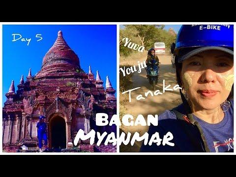 Liburan Myanmar/ Berpetualang Menjelajahi Candi(Pagoda) Dengan E-Bike  Di Bagan