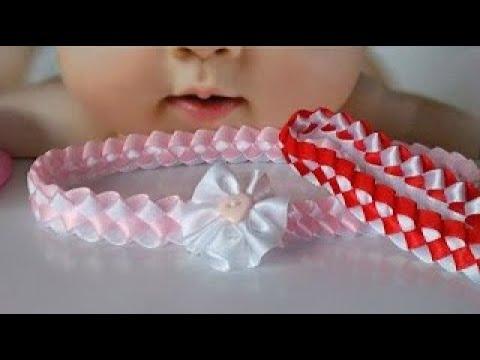 Diadema para bebe paso a paso margari youtube for Hacer diademas nina