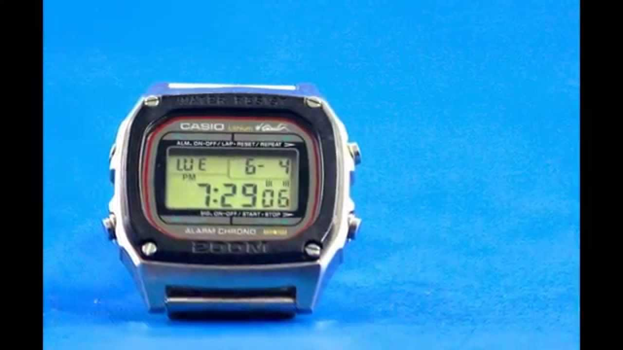 vintage casio digital watch dw 1000 men diver 200m