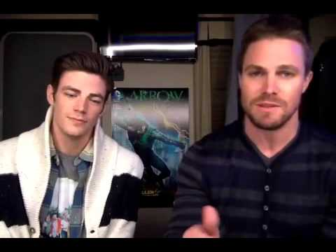 Grant Gustin and Stephen Amell | For Layton | 3/12/15