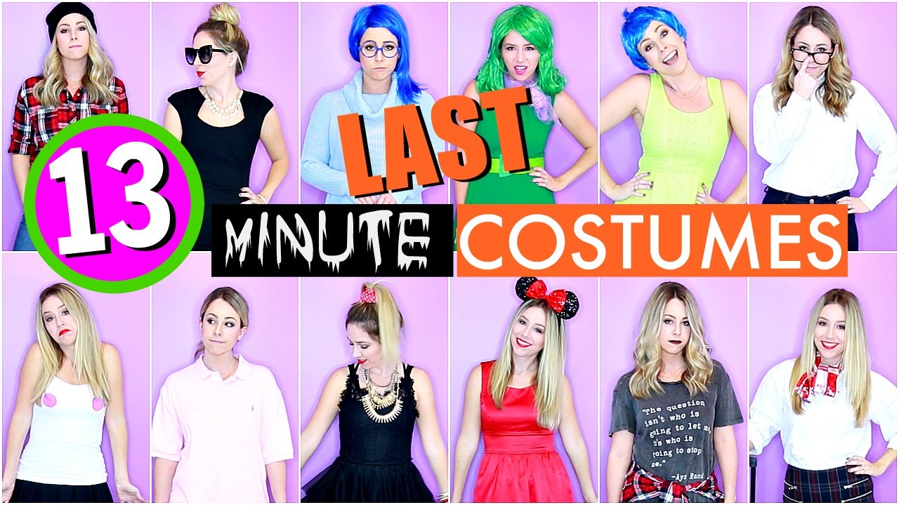13 Last Minute DIY Halloween Costumes  sc 1 st  YouTube & 13 Last Minute DIY Halloween Costumes - YouTube