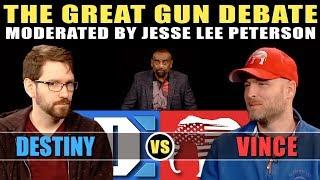 The Great Gun Debate: Destiny vs. Vincent James! Gun Control, 2nd Amendment & Mass Shootings! (#119) thumbnail