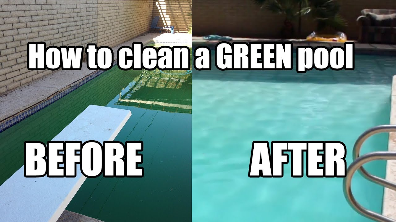 how to clean a green pool youtube