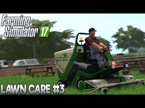 Lawn Care #3 - Farming Simulator 17 (with Wheel Cam)