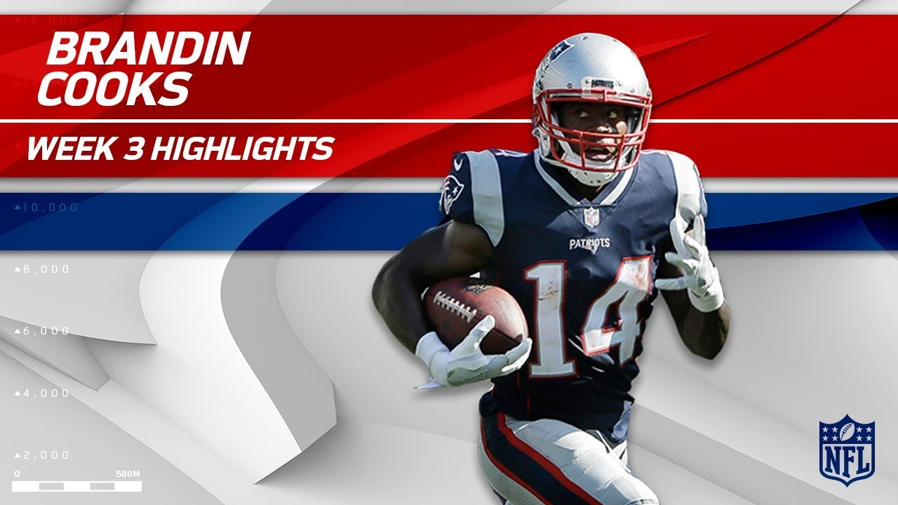 90b8d91a Brandin Cooks' Breakout Game as a Patriot!   Texans vs. Patriots   Wk 3  Player Highlights