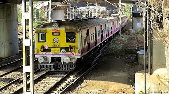 Retrofitted Thane - Panvel 12 Car Slow Local Departing Turbhe.