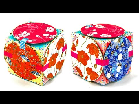 How to make a cute cd gift box recycled craft idea youtube for Products made out of waste