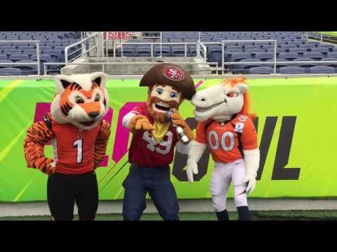 NFL Mascots - On A Float