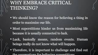 Superstition and Critical Thinking