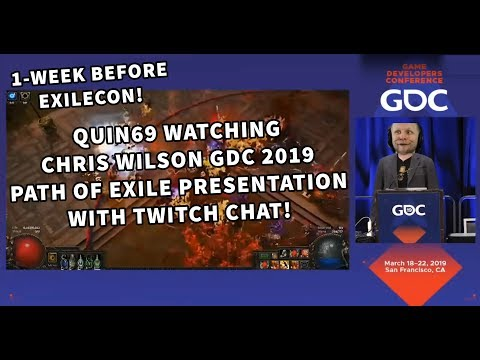 Quin69 Reacts To Chris Wilsons GDC 2019 Path Of Exile Presentation With Twitch Chat!