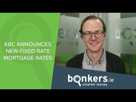KBC announces new fixed mortgage rates