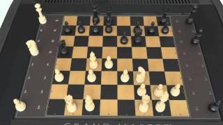 MILTON BRADLEY GRANDMASTER COMPUTER CHESS GAME PLAYS ITSELF TO CHECKMATE